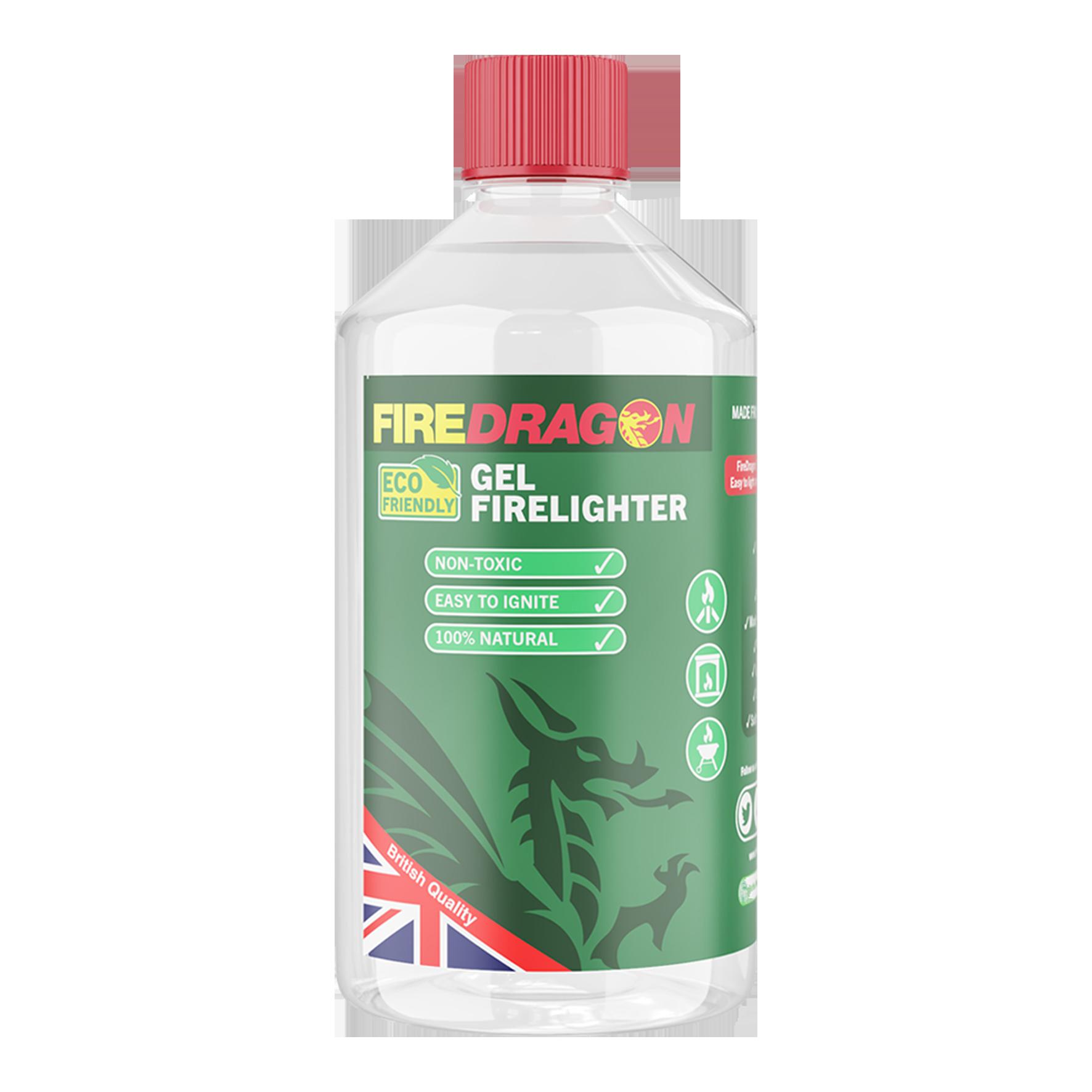 FireDragon 1 Litre Gel Eco-friendly firelighter